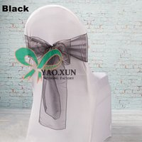 Wholesale White Spandex Chair Cover White Banquet Chair Cover With Black Chair Sash