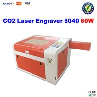 600*400mm lifting points - Free ship CO2 Laser Engraving Machine laser engraver W with rotary axis Blow function Lift and down laser pointing
