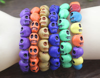 american ceramic product - 2015 Hot sales Products Beaded MM Polymer clay beads Skull Elastic Bracelets for Men and Women s Gift