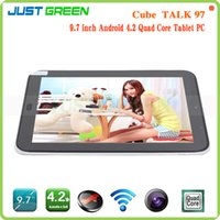 Wholesale Cube Talk Phablet MTK8382 Quad Core GHz Android Tablets quot IPS Screen x768 GB RAM GB ROM MP Camera G Phone Call GPS