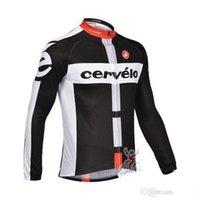 Wholesale team cervelo jersey hot sale long sleeve bike jacket outdoor sport road bike wear