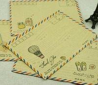 airmail paper - Vintage Vintage Kraft paper airmail envelope DIY Multifunction Gift Envelope dandys