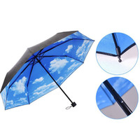 Wholesale 1504 Anti UV Sun Protection Umbrella Sky Folding Parasols Rain Umbrella