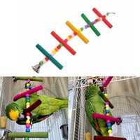 Wholesale L S Sizes Pet Chew Swing Bird Toys Bead Ladder Bridge Budgie Parrot Multicolor Climbing Bite Toy