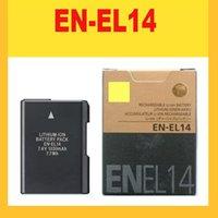 Wholesale EN EL14 digital batteries ENEL14 EN EL14 Camera Battery pack For Nikon D5200 D3100 D3200 D5100 P7000 P7100 MH bateria