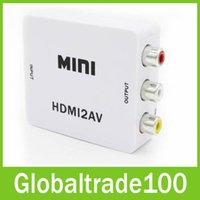 av chip - 1080P HDMI to AV Converter RCA CVBS Audio Video Adapter For HDTV Chip Mini HMDI2AV
