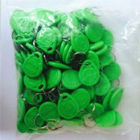 Wholesale 100PCS KHZ EM4100 Chip RFID green Tag Keychain Card for Access Control Systerm