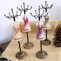 Wholesale Mannequin Display stand Rack organizer charm Gift poly painted doll Jewelry Holder