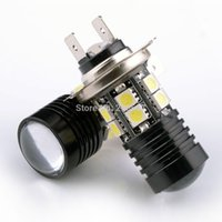 Wholesale Energy Saving H7 Cree Q5 SMD5050 LED Car Head Light Bulb Repalace Extreme Bright Long lasting White Lamp TK0264