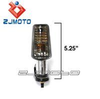 arlen ness - 4 Turn Signals Lights Chrome Smoke Spear For Victory Ness Jackpot Arlen Series Motorcycle parts Zjmoto