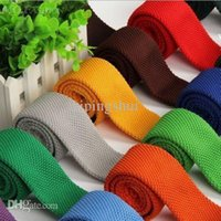 Wholesale Men s Colourful Tie Knit Knitted Tie Necktie Narrow Slim Skinny Woven