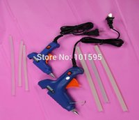 Wholesale New Mini V Blue Body Electric Heating Hot Melt Glue Gun Crafts Repair Tool Professional Sending Glue Sticks