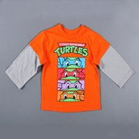 teenage fashion - 4pcs Teenage Mutant Ninja Turtles children T shirts spring cartoon baby boys long sleeve t shirts TMNT kids girls clothing HX