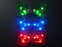 Wholesale Free EMS LED Light butterfly Glasses new Flashing butterfly LED Flash Glasses Party Supplies Festival Decoration Christmas Hollowen B