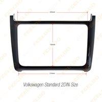 Wholesale 40pcs Glossy Black DIN Car Refitting Radio Stereo DVD Frame Fascia Dash Panel Installation Kits For Volkswagen Polo Typ6C