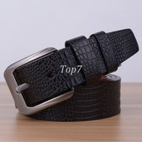 alligator belt straps - 2016 fashion faux leather mens belts for men alligator strap male metal pin buckle cinto masculino waistband