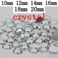 Wholesale High shine crystal color TaiWan Acrylic rhinestone flatback strass silver backing glue on rhinestones mm