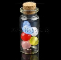 Wholesale 20PCs Fashion New Tie Plug Tiny Glass Bottle for beads Jewelry Vial Potion girl gifts small display glassware mm x50 mm