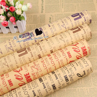 gift wrapping paper - Vintage Newspaper Gift Paper Wrapping Paper Double Sided Printing Christmas Packaging Paper