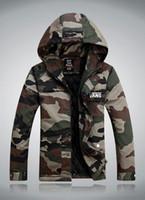 Cheap Men winter jacket men Best Hooded Regular camouflage coat