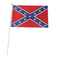 Wholesale Handheld Small Flags Confederate Flags Polyester Flag cm USA National Flag Rebel Civil War Flag Cheapest wolfs