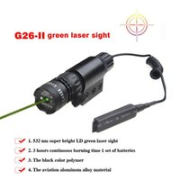 Wholesale Green Laser Sight Tactical nm Outside Adjust Green Dot Laser Sight Rifle Gun Scope Switch Rail Mounts for Hunter For