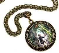 aslan lion - 10pcs Lucy and Aslan in Narnia The Lion the Witch and the Wardrobe Necklace Glass Cabochon Necklace