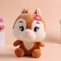 baby red squirrel - Top Quality PP Cotton SWEET Squirrel Plush Toy Nano Doll Extra Soft Baby Children Mini Toys with Sucker Christmas Gift S29