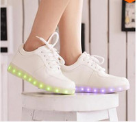 Wholesale 2015 Women Colorful glowing shoes with lights up led luminous shoes a new simulation sole led shoes for adults neon basket led