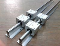 bearing with shaft - 2 Set SBR20 mm MM FULLY SUPPORTED LINEAR RAIL SHAFT with SBR20UU BEARING BLOCK