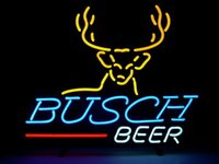 Wholesale NEON BUSCH YELLOW BEER SIGN HANDICRAFT REAL GLASS LIGHT TUBE GAMEROOM BEER BAR PUB x14 quot