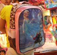 Wholesale 2014 new FROZEN children school bags baby girls schoolbag Children Backpack schoolbag cartoon backpack kids bags JL
