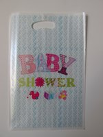 baby shower shop - baby shower theme printing plastic hand length handle loot lolly bag shopping gift bag