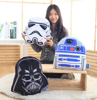 Wholesale Creative Star Wars Force awakening white soldiers and black warrior pillow Sofa cushions Send to friends Halloween gifts