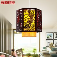 antique wooden lamps - Dreaming Qin and Han Chinese lamps modern restaurant lights restaurant chandelier antique wooden corridor aisle lighting