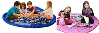toy organizer box - Children infant Play Mat Toy Mats Portable collapsible Large Nylon Storage Bag Toys Organizer Dolls car Rug Box cm blue pink XL gift EMS