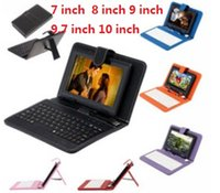 Wholesale DHL Universal Leather Keyboard Case with Micro USB Interface Keyboard for Q88 inch Black Universal Ipad Sumsang PC