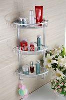 aluminium shelves - Wall Mounted Space Aluminium Corner Bathroom Shelf Shelves for Bathroom Bathroom Accessories