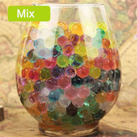 Wholesale Multi Colors Water Plant Flower Jelly Crystal Soil Mud Water Pearls Vase Soil Gel Beads Balls Bead Decoration Crystal Plant Soil Beads