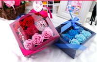 Wholesale 10Boxes Soap Flowers Valentine s day of Christmas gift Rose Flower Wedding Party Gifts May Style