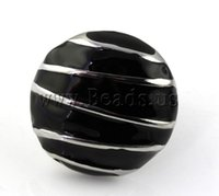 flat ring - Stainless Steel Finger Ring High Quality Jewelry Flat Round enamel black mm Size Bag Sold By Bag