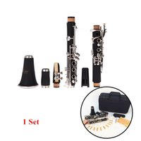 Wholesale High Quality Clarinet Key Bb Flat Soprano Nickel Plating Exquisite Bakelite Clarinet Musical Instruments New Arrivel