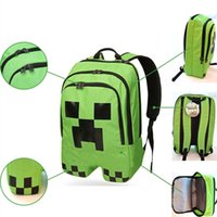 Wholesale 2015 New creative Minecraft backpacks Minecraft Bags Children School Bags Minecraft Creeper backpacks schoolbags A