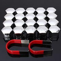 Wholesale 20pcs set mm Car Plastic Caps Bolts Covers Nuts Alloy Wheel Matt Protectors Chrome order lt no track