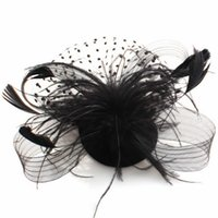 hair fall - Vintage Fascinator Feather Fabric Net Hair Clip Cocktail Hat Wedding Evening Party Headdress