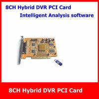 basic video card - 8CH intelligent CCTV Hybrid DVR Card with Intelligent Video Analysis Basic Software Support ch IP Camera Live View SI PC8A