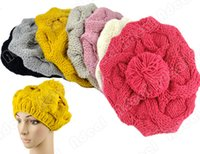 Wholesale Fashion Korean Women s Winter Warm Knit Wool Hat Beanie Crochet Warm Pumpkin Ball Cap