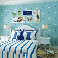 beautiful wood beds - 2016 New Beautiful Wall Sticker For Kids Rooms Wall Paper Children Room Boys Girls Wallpaper Roll Bedding Room Background Wall AB5804