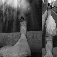 beautiful modest dresses - 2015 Inbal Dror Wedding Gowns Mermaid Tulle Appliques Lace Sweetheart Bridal Dresses Modest Beautiful Dress For Brides Custom Made