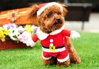 Wholesale Newest Cute Pet Dog Clothes Waistcoat Pants Lovey Warm Autumn Winter Dogs Coat Christmas Clothes